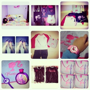 FINALLY!!!! ini kumpulan Barang-barang Barbieku. Sebenernya masih ada Bantal, gantungan hp, faltform, Tanktop, dan cincin Barbie. Tapi belum nyampe nih :((